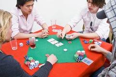 πόκερ παιχνιδιών στοκ φωτογραφία με δικαίωμα ελεύθερης χρήσης