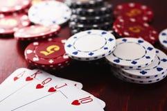 πόκερ παιχνιδιών Στοκ Φωτογραφία