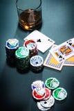 πόκερ παιχνιδιού έννοιας Στοκ εικόνες με δικαίωμα ελεύθερης χρήσης