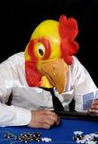 πόκερ προσώπου κοτόπουλ&o Στοκ Φωτογραφία