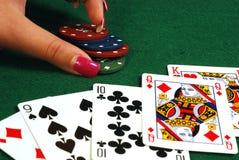 πόκερ στοιχήματος στοκ φωτογραφίες
