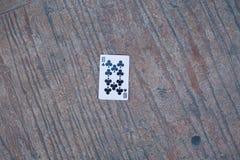 Πόκερ 10 στο έδαφος Στοκ Φωτογραφίες