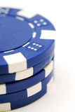 πόκερ σωρών τσιπ Στοκ φωτογραφία με δικαίωμα ελεύθερης χρήσης