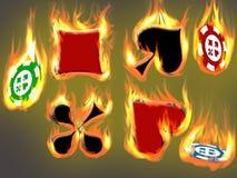πόκερ τρέλας Στοκ Εικόνα