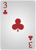 Πόκερ τριών λεσχών καρτών Στοκ φωτογραφία με δικαίωμα ελεύθερης χρήσης