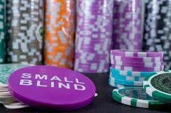 πόκερ τσιπ καρτών Στοκ Εικόνα