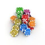 πόκερ τσιπ Ελεύθερη απεικόνιση δικαιώματος