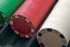 πόκερ τσιπ Στοκ Εικόνα