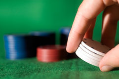 πόκερ τσιπ Στοκ φωτογραφίες με δικαίωμα ελεύθερης χρήσης