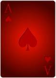 Πόκερ φτυαριών καρτών άσσων Στοκ εικόνα με δικαίωμα ελεύθερης χρήσης