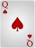 Πόκερ φτυαριών καρτών βασίλισσας Στοκ Φωτογραφία