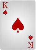Πόκερ φτυαριών καρτών βασιλιάδων Στοκ Εικόνες