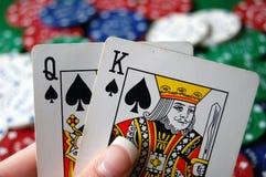 πόκερ χεριών τσιπ στοκ εικόνες