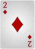 Πόκερ δύο διαμαντιών καρτών Στοκ φωτογραφία με δικαίωμα ελεύθερης χρήσης
