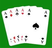 πόκερ 5 άσσων skat Στοκ Εικόνες