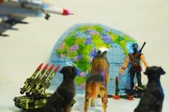 Πόλεμος παιχνιδιών στην τρομοκρατία στον κόσμο στοκ εικόνες με δικαίωμα ελεύθερης χρήσης