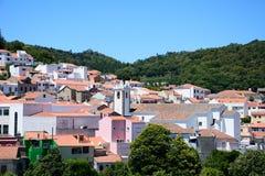 Πόλης κτήρια Monchique, Πορτογαλία Στοκ φωτογραφία με δικαίωμα ελεύθερης χρήσης