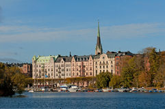 πόλης όψη της Στοκχόλμης Σ&omi Στοκ Εικόνες