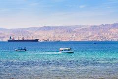 πόλης όψη του Ισραήλ κόλπων aqaba eilat Στοκ Φωτογραφίες