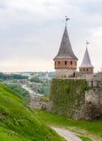 πόλης όψη podilskyi φρουρίων kamianets παλαιά Στοκ Φωτογραφίες