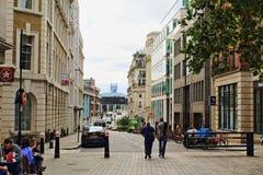 Πόλη άποψης βασίλισσας Street του Λονδίνου Αγγλία Στοκ εικόνα με δικαίωμα ελεύθερης χρήσης