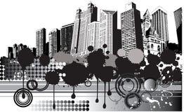 πόλη ανασκόπησης grunge Ελεύθερη απεικόνιση δικαιώματος