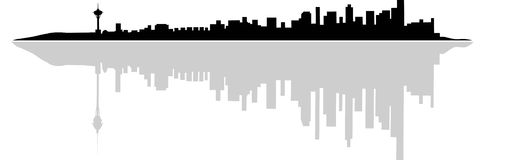 πόλη αστική Διανυσματική απεικόνιση