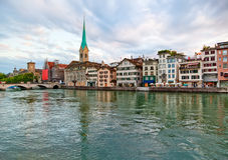 πόλη Ελβετία Ζυρίχη στοκ εικόνες