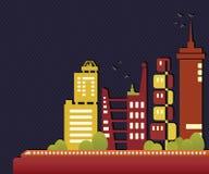 πόλη ζωηρόχρωμη απεικόνιση αποθεμάτων