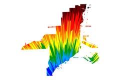 Πόλη Ηνωμένες Πολιτείες της Αμερικής, ΗΠΑ, U του Μαϊάμι S , Αμερικανικές, Ηνωμένες Πολιτείες πόλη, χάρτης αμερικανικών πόλεων είν διανυσματική απεικόνιση