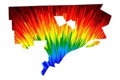 Πόλη Ηνωμένες Πολιτείες της Αμερικής, ΗΠΑ, U του Ντιτρόιτ S , Αμερικανικές, Ηνωμένες Πολιτείες πόλη, χάρτης αμερικανικών πόλεων ε διανυσματική απεικόνιση