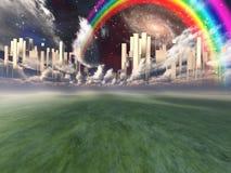 πόλη θεϊκή ελεύθερη απεικόνιση δικαιώματος
