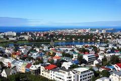 πόλη Ισλανδία Ρέικιαβικ Στοκ Εικόνες