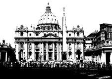 πόλη Ιταλία Ρώμη Βατικανό διανυσματική απεικόνιση