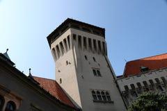 Πόλη και κάστρο Smolenice στη Σλοβακία στοκ φωτογραφία