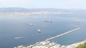 Πόλη και λιμάνι του Γιβραλτάρ απόθεμα βίντεο