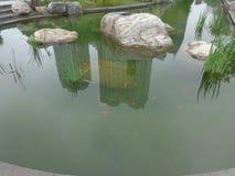 Πόλη και μια λίμνη στοκ φωτογραφία με δικαίωμα ελεύθερης χρήσης