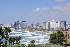 Πόλη και παραλία Jaffa Τελ Αβίβ άποψης Στοκ εικόνες με δικαίωμα ελεύθερης χρήσης