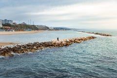 Πόλη και παραλία Termoli στοκ εικόνες