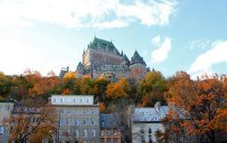 πόλη Κεμπέκ πυργων του Κα&nu Στοκ εικόνα με δικαίωμα ελεύθερης χρήσης
