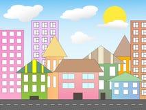 πόλη κινούμενων σχεδίων Στοκ Εικόνες