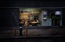 Πόλη-κοσμικός γευματίζων της Νέας Υόρκης στοκ εικόνες