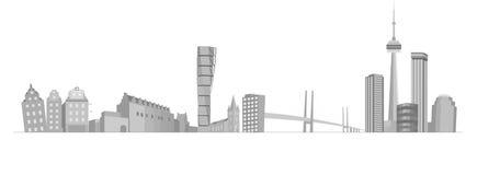 πόλη κτηρίων διανυσματική απεικόνιση