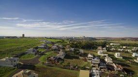 Πόλη - λεωφόρος και ενσωμάτωση της πόλης Ribeirao Preto - Σάο Πάολο - Βραζιλία Στοκ φωτογραφία με δικαίωμα ελεύθερης χρήσης