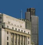 πόλη Λονδίνο τραπεζών Στοκ Εικόνα