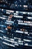 πόλη Μόσχα εμπορικών κέντρων Γραφεία παραθύρων Στοκ φωτογραφία με δικαίωμα ελεύθερης χρήσης