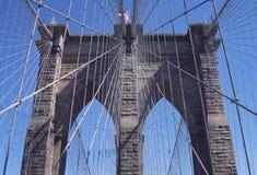 πόλη Νέα Υόρκη του Μπρούκλιν γεφυρών Στοκ φωτογραφία με δικαίωμα ελεύθερης χρήσης