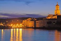 πόλη νησιών της Κροατίας krk Στοκ εικόνες με δικαίωμα ελεύθερης χρήσης