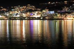 πόλη νύχτας mykonos Στοκ φωτογραφία με δικαίωμα ελεύθερης χρήσης