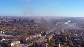 πόλη πέρα από την αιθαλομίχλ&et απόθεμα βίντεο